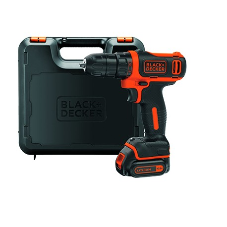 BLACK+DECKER TRAPANO AVVITATORE 10.8V BDCDD12K OMAGGIO WD-40 5 pz da 25 ml